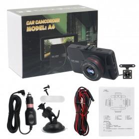 Kamera DVR Mobil Depan Belakang Wide Angle 1080P - A6 - Black - 10