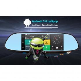 Kaca Spion DVR Dual Kamera 1080P 7 Inch Display dengan 3G Network - Black - 4