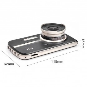Kamera DVR Mobil Dual Lens 1080P - T18 - Black - 5