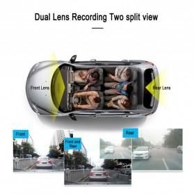 Kamera DVR Mobil Dual Lens 1080P - T18 - Black - 7