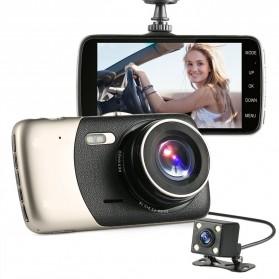 Kamera DVR Mobil Depan dan Belakang 1080P - Black