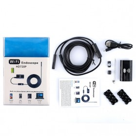 Kamera Endoscope WiFi Waterproof HD 8.0mm 720P 2M - F99 - Black - 8