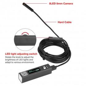 Jingleszcn Kamera Endoscope WiFi Waterproof HD 8.0mm 1200P 2M - F150 - Black - 3