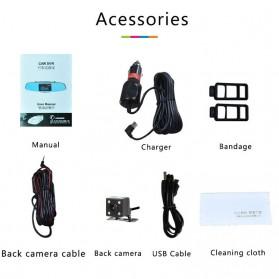 Kaca Spion Rear View DVR Dual Kamera 1080P 5 Inch Display - J001 - Black - 3