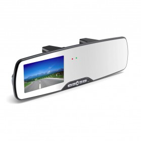 Rear View Mirror Digital Video Car Recorder HD 1080P G-sensor - 701C - Black