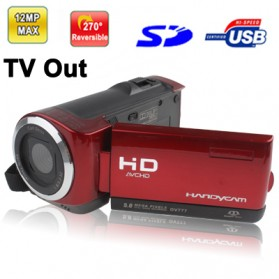Digital Video Camera 5MP with 2.4 inch TFT LCD Screen - Red