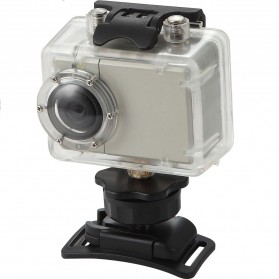 RF Full HD 1080P Night Vision Waterproof Action Camera with Helmet Mount - AT81 - Silver