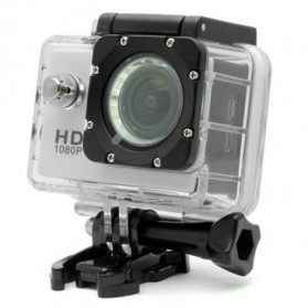 RF Full HD 1080P Waterproof Action Camera Sport DVR with Helmet Mount - S20 - Silver