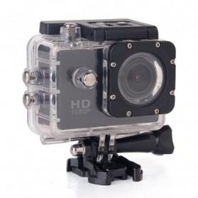 RF Full HD 1080P Waterproof Action Camera Sport DVR with Helmet Mount - S20 - Black