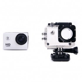RF Full HD 1080P Waterproof Action Camera Sport DVR with Helmet Mount - S20 - White