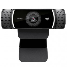 Logitech Webcam HD Stream 1080P with Microphone - C922 Pro - Black - 2
