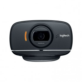 Logitech Foldable Business Webcam HD Stream 1080P with Microphone - B525 - Black