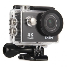 HD Action Camera - EKEN H9R Action Camera Waterproof 4K WiFi with Remote & Mount Set - Black