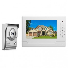 Kamera Pintu Intercom Doorbell LCD Monitor - SF518 - Silver - 1