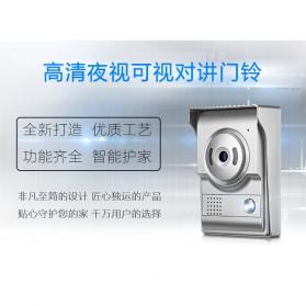 Kamera Pintu Intercom Doorbell LCD Monitor - SF518 - Silver - 2