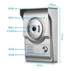 Kamera Pintu Intercom Doorbell LCD Monitor - SF518 - Silver - 6