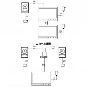Kamera Pintu Intercom Doorbell LCD Monitor - SF518 - Silver - 9
