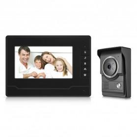 Kamera Pintu Intercom Doorbell LCD Monitor - SF518 - Black