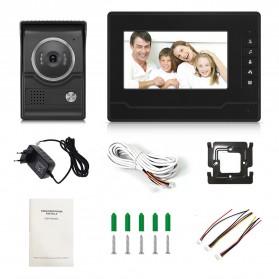 Kamera Pintu Intercom Doorbell LCD Monitor - SF518 - Black - 2