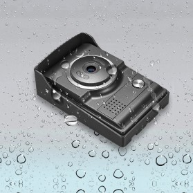 Kamera Pintu Intercom Doorbell LCD Monitor - SF518 - Black - 3