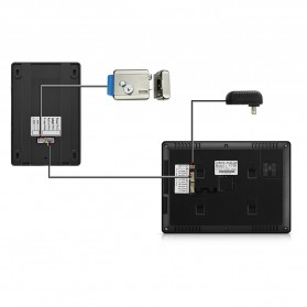 Kamera Pintu Intercom Doorbell LCD Monitor - SF518 - Black - 7