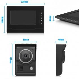 Kamera Pintu Intercom Doorbell LCD Monitor - SF518 - Black - 9