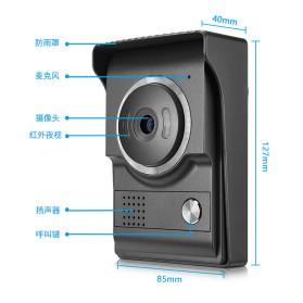 Kamera Pintu Intercom Doorbell LCD Monitor - SF518 - Black - 10