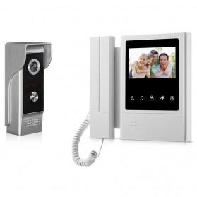 Kamera Pintu Intercom Doorbell LCD Telephone Design - XSL-168-M4 - Gray