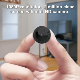 SHZONS Mini WiFi IP Camera TF Card Slot Night Vision Motion Detect 1080P - W-10 - Black