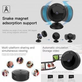 SHZONS Mini WiFi IP Camera TF Card Slot Night Vision Motion Detect 1080P - W-10 - Black - 2