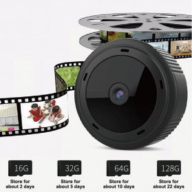SHZONS Mini WiFi IP Camera TF Card Slot Night Vision Motion Detect 1080P - W-10 - Black - 3