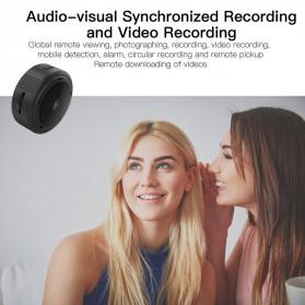 SHZONS Mini WiFi IP Camera TF Card Slot Night Vision Motion Detect 1080P - W-10 - Black - 4