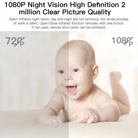 SHZONS Mini WiFi IP Camera TF Card Slot Night Vision Motion Detect 1080P - W-10 - Black - 7