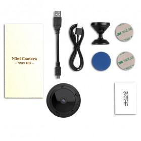 SHZONS Mini WiFi IP Camera TF Card Slot Night Vision Motion Detect 1080P - W-10 - Black - 8