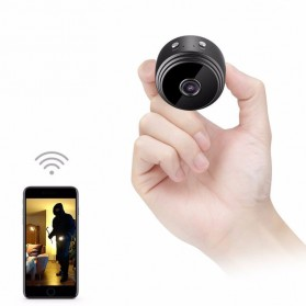 CCTV Meja - Baco Smart Mini IP Camera CCTV Spy Cam 1080P - A9 - Black