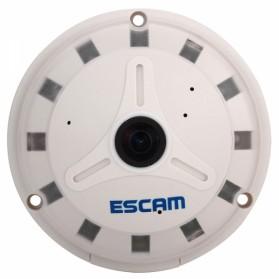 ESCAM UFO Panoramic Waterproof IP Camera CCTV Fish Eye 360 Degree 1/3 Inch 1.3MP 720P - QP130 - White - 4