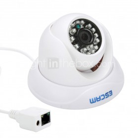 ESCAM Snail QD500 Waterproof Dome IP Camera CCTV 1/4 Inch 1MP CMOS 720P - White - 4