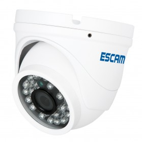 ESCAM Peashooter QD520 Waterproof Dome IP Camera CCTV 1/4 Inch 1MP CMOS 720P - White