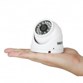 ESCAM Peashooter QD520 Waterproof Dome IP Camera CCTV 1/4 Inch 1MP CMOS 720P - White - 4
