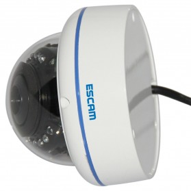 ESCAM Q645R Waterproof Dome IP Camera CCTV 1/4 Inch CMOS 720p - White - 4