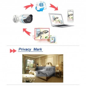 ESCAM Q630M Waterproof Bullet IP Camera CCTV 1/4 Inch CMOS 720P - White - 8