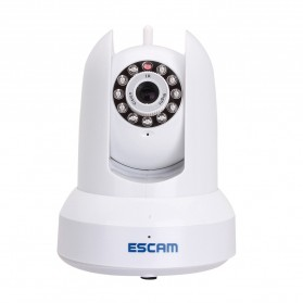 ESCAM Cat QF300 Wireless IP Camera CCTV for Android and iOS 1/4 Inch CMOS - White