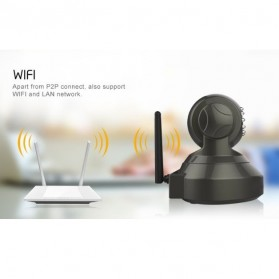 ESCAM Pearl QF100 Wireless IP Camera CCTV for Android and iOS 1/4 Inch CMOS - Black - 8