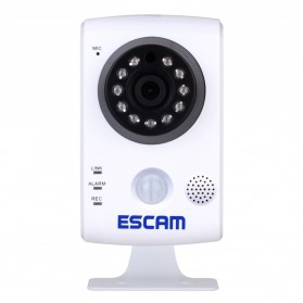 ESCAM Keeper QF502 Wireless IP Camera CCTV 1/4 Inch CMOS 720P - White