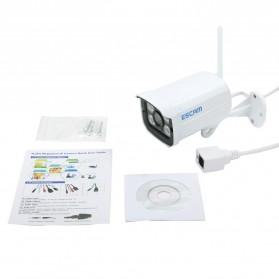 ESCAM Brick QD900 WiFi Waterproof Bullet Wireless IP Camera CCTV 1/2.5 Inch CMOS 1080P - White - 6