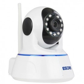 ESCAM QF002 Wireless IP Camera CCTV 1/4 Inch CMOS 720P - White