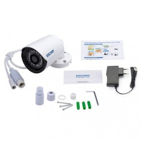 ESCAM Plane QE07 Waterproof Bullet IP Camera CCTV 1/4 Inch 1MP CMOS 720P - White - 8
