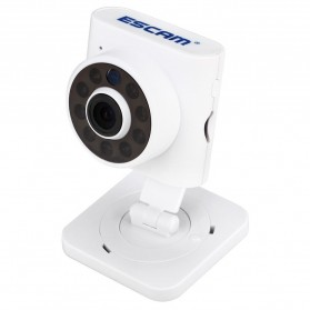 ESCAM Wall-E QF601 Wireless IP Camera CCTV 1/4 Inch CMOS 720P - White