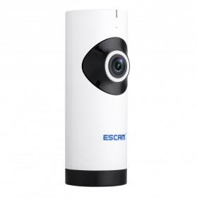 ESCAM Moai QP110 Panoramic Fisheye Wireless IP Camera CCTV 1/4 Inch CMOS 720P - White - 2