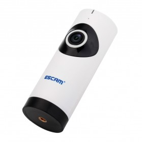 ESCAM Moai QP110 Panoramic Fisheye Wireless IP Camera CCTV 1/4 Inch CMOS 720P - White - 3